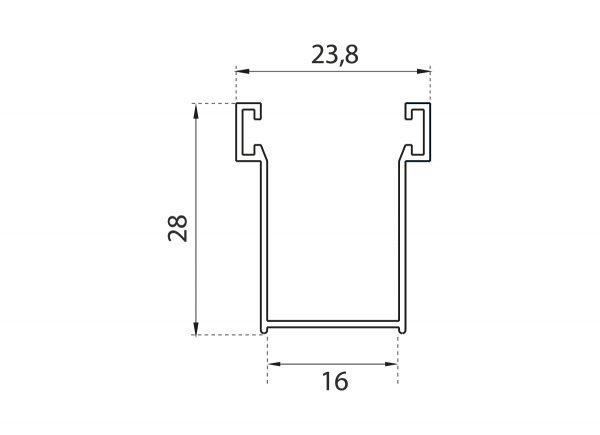 Guide in alluminio per tapparelle A16