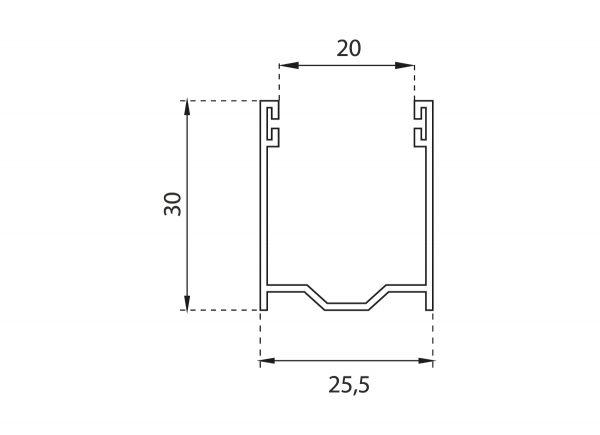 Guide in alluminio per tapparelle A27