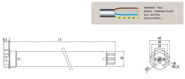Motore per avvolgibili Cherubini Clima RX 45