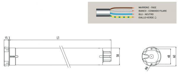 Motore per avvolgibili Cherubini Clima RX 58