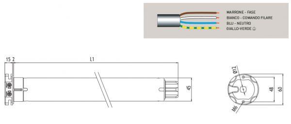 Motore per avvolgibili Cherubini Garda RX 45