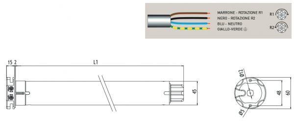 Motore per avvolgibili Cherubini Micro Easy 45