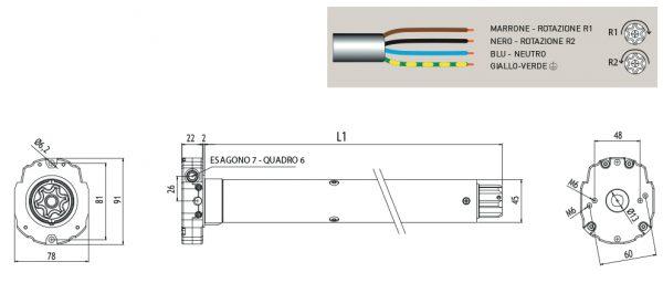Motore per avvolgibili Cherubini Ocean 45