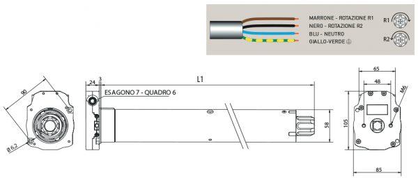 Motore per avvolgibili Cherubini Ocean 58