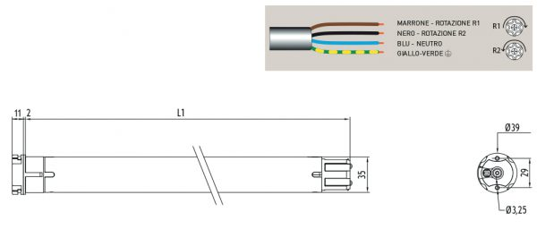 Motore per avvolgibili Cherubini Plug & Play Plus 35