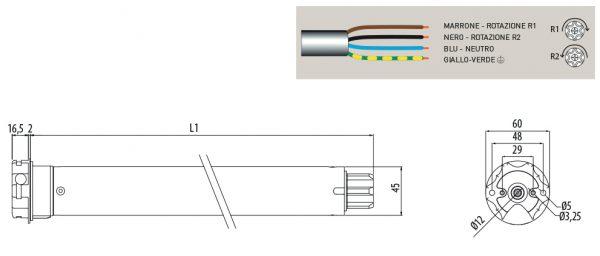 Motore per avvolgibili Cherubini Plug&Play 45