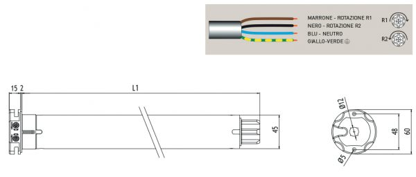 Motore per avvolgibili Cherubini Roll 45