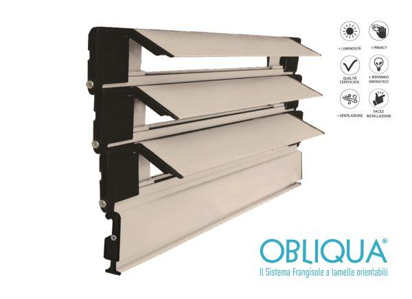Sistema frangisole a lamelle orientabili