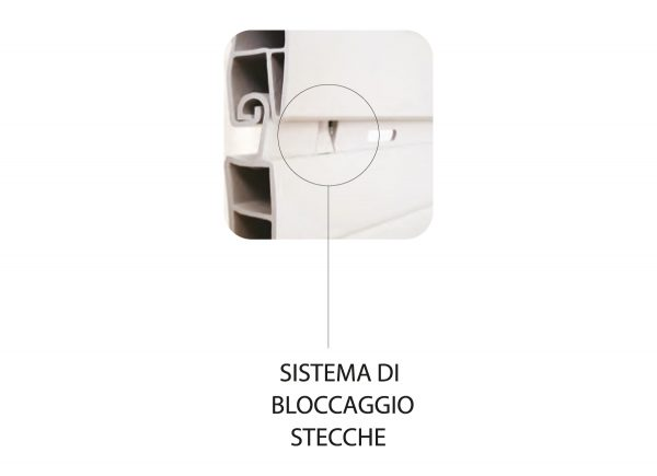 Tapparelle in PVC con sistema di blocaggio stecche