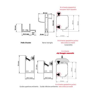 Zanzariere-Mistral-40-laterale-Misure-Sezioni-Rami